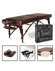 """Master Massage 31"""" Extra Large Carlyle LX Portable Massage Table Package Brown with Memory Foam Reiki Panel"""