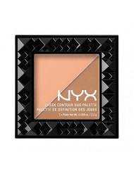 NYX PROFESSIONAL MAKEUP Cheek Contour Duo Palette, Two To Tango, 0.18 Ounce