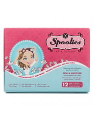 Original Spoolies Hair Curlers, Medium Size - 12 Count (Shadow Black) - Marvelous Mrs. Maisel Rollers for Retro Styles, Hair Extensions + Wigs