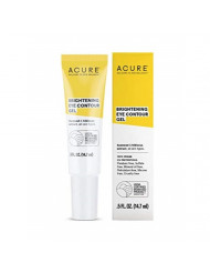 ACURE Brightening Eye Contour Gel  | 100% Vegan | For A Brighter Appearance | Seaweed & Hibiscus Extract - Rejuvenates, Hydrates & Soothes | All Skin Types | 0.5 Fl Oz