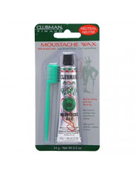 Clubman Moustwax with Brush, White (Neutral)