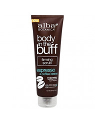 Alba Botanica Body In The Buff Scrub, Firming Espresso and Coffee Beans, 9 Ounce