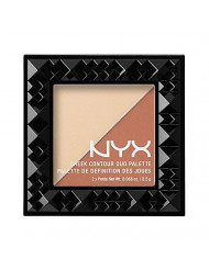 NYX PROFESSIONAL MAKEUP Cheek Contour Duo Palette, Perfect Match, 0.18 Ounce
