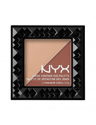 NYX PROFESSIONAL MAKEUP Cheek Contour Duo Palette, Ginger and Pepper, 0.18 Ounce