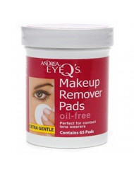 Andrea Eye Q's Eye Make-Up Remover Pads Oil-Free 65 Each (Pack of 9)