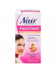 Nair Hair Remover Moisturizing Face Cream with Sweet Almond Oil 2 oz (Pack of 7)