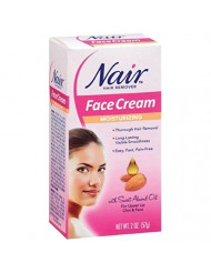 Nair Hair Remover Moisturizing Face Cream with Sweet Almond Oil 2 oz (Pack of 8)