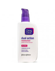CLEAN & CLEAR Dual Action Oil-Free Moisturizer 4 oz (Pack of 9)