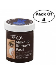 Andrea Eye Q's Eye Make-Up Remover Pads Moisturizing 65 Each (Pack of 4)