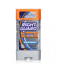 Right Guard Total Defense 5 Power Gel, Antiperspirant & Deodorant, Artic Refresh, 4 Ounce (Pack of 5)