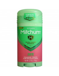 Mitchum For Women Triple Odor Defense Invisible Solid Antiperspirant & Deodorant 2.70 oz (Pack of 2)