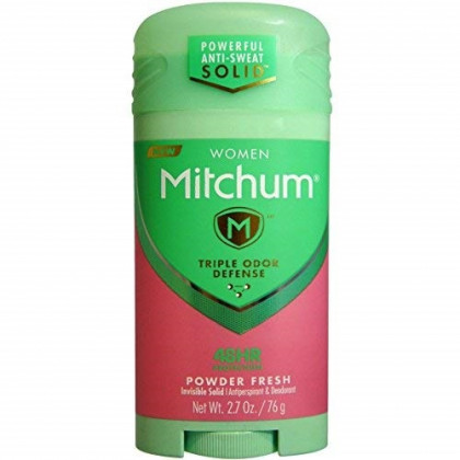 Mitchum For Women Triple Odor Defense Invisible Solid Antiperspirant & Deodorant 2.70 oz (Pack of 8)