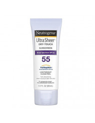Neutrogena Ultra Sheer Dry-Touch Sunscreen SPF 55 3 oz (Pack of 3)