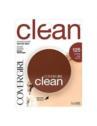 CoverGirl Clean Pressed Powder Compact, Buff Beige [125], 0.39 oz (Pack of 3)