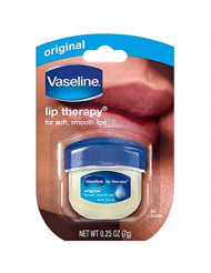 Vaseline Lip Therapy Original Mini, 0.25 ounces (Pack of 4)