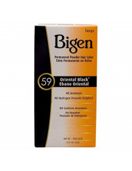 Bigen Permanent Powder Hair Color 59 Oriental Black 1 ea (Pack of 4)