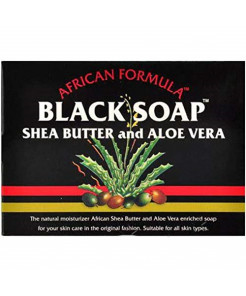 Madina African Black Soap Shea Butter and Aloe Vera, 3.5 oz (Pack of 10)