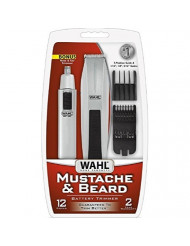 Wahl Mustache & Beard Battery Trimmer Kit with Bonus Nose Trimmer 1 ea (Pack of 2)