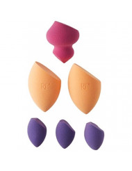 Real Techniques 6 Miracle Complexion Sponges Make Up Brush Set with Revolutionary Foam Technology Use Damp or Dry for a Smooth Finished Look Synthetic Materials