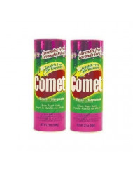 Comet Cleaner with Bleach Powder Lavender Fresh 21-Ounces | Scratch-Free | 4-Pack