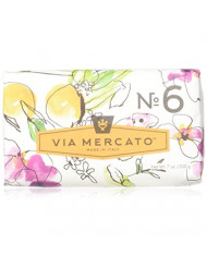 Via Mercato Italian Soap Bar (200 g), No. 6 - Orange Blossom and Cedar wood