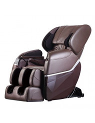 Zero Gravity Full Body Electric Shiatsu UL Approved Massage Chair Recliner with Built-in Heat Therapy and Foot Roller Air Massage System Stretch Vibrating for Home Office PS4,Brown