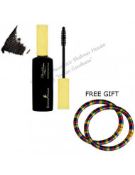 Shahnaz Husain Hair Mascara Black - with FREE GIFT (Pair of Multicolor Bangles) and by Shahnaz Husain