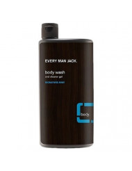 Every Man Jack Body Wash and Shower Gel, Signature Mint, 16.9 oz - 2pc