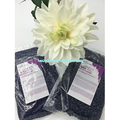 Huini Herbicos Body Hair Remover Hard Wax Beans Lavender for All Skin Types - 17.64 oz / 500g CD-DC-RHW500C-3