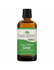Plant Therapy Lime Steam Distilled Essential Oil 100 mL (3.3 oz) 100% Pure, Undiluted, Therapeutic Grade