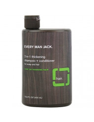Pack of 1 x Every Man Jack 2 in 1 Shampoo plus Conditioner - Thickening - Scalp and Hair - Fine or Thinning Hair - 13.5 oz by Every Man Jack