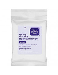 Clean & Clear Oil-Free Makeup Dissolving Facial Cleansing Wipes to Remove Dirt, Oil, Makeup & Waterproof Mascara, 7 ct.