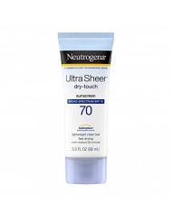 Neutrogena Ultra Sheer Dry-Touch Water Resistant and Non-Greasy Sunscreen Lotion with Broad Spectrum SPF 70, 3 fl. oz