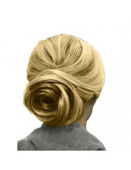 Mia Swirl Bun, Bendable Bun Maker Styling Tool, Creates A Beautiful, Pretty, Romantic, Chic, Trendy Swirl Style,Tornado Bun, Brown, For Women, Brides, Girls, Casual or Dress Up 1pc