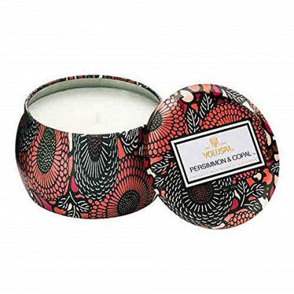 Voluspa Persimmon Copal Decorative Mini Tin Candle, 4 Ounce