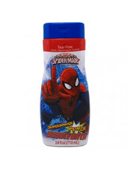 Spiderman Bubble Bath 24 Ounce Superpower Punch (709ml) (2 Pack)