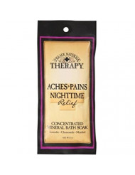 Village Naturals Therapy Aches+Pains Nighttime Relief Concentrated Mineral Bath Soak Lavender,Chamomile,Menthol (2oz)