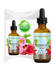 ROSEHIP OIL 100% Pure/Natural/Refined/Undiluted for Face, Body, Hair and Nail Care. 1 Fl.oz.- 30 ml.
