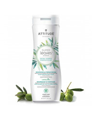 ATTITUDE Super Leaves, Hypoallergenic Nourishing & Strenghtening Shampoo, Grapeseed Oil & Olive Leaves, 16 Fluid Ounce