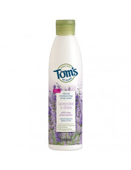 Tom's of Maine Natural Moisturizing Body Wash Soap with Raw Shea Butter, Lavender Tea Tree, 12 oz