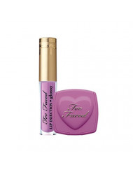 Too Faced Naughty Kisses & Sweet Cheeks Set Deluxe Lip Injection in Like a Boss and Blush In Dream Lover