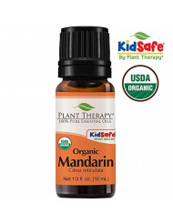 Plant Therapy Mandarin Organic Essential Oil 10 mL (1/3 oz) 100% Pure, Undiluted, Therapeutic Grade
