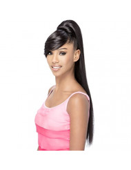 Vivica A Fox Hair Collection BP-Fendy Bang N Pony Yaki Texture New Futura Fiber, Color 1b, 6.8 Ounce