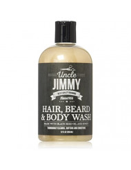Uncle Jimmy Hair, Beard & Body Wash, 12 Oz