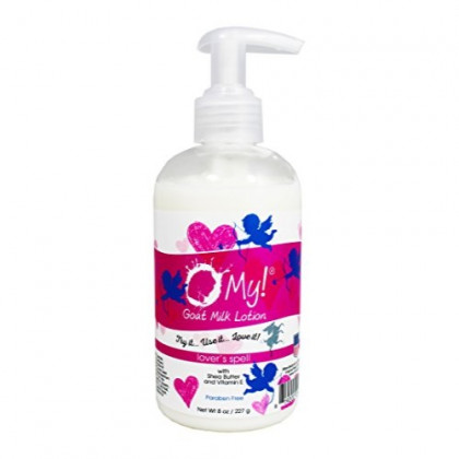 O My! Goat Milk Lotion 8oz - Lovers Spell | Made with Farm-Fresh Goat Milk | Paraben Free | Hydrating with Shea Butter & Vitamin E | Leaping Bunny Certified | Handmade in USA