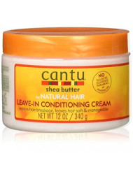 Cantu Shea Butter for Natural Hair Leave in Conditioner Repair Cream 12 Oz (Pack of 2)