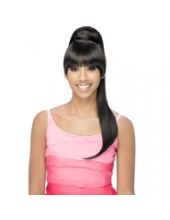 Vivica A Fox Hair Collection BP-Loui Bang N Pony Yaki Texture New Futura Fiber, Color 1b, 6.8 Ounce