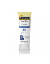 Neutrogena Sheer Zinc Dry Touch Spf#50 Sunscreen 3 Ounce (88ml)