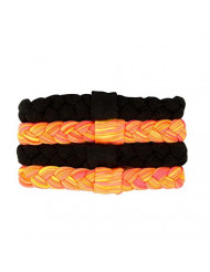 Goody Ouchless Sport Braided Ponytailers, Neon Assorted Colors, 4 Count
