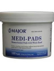 Medi-Pads Maximum Strength With Witch Hazel Hemorrhoidal Hygienic Cleansing Pads 100 Ct *Compare to the same active ingredient in Tucks Pads & Save!* by Tucks Medicated Pads